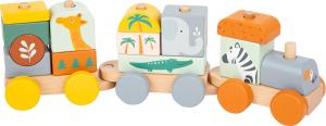 Trenulet din lemn in culori pastelate Safari [0]