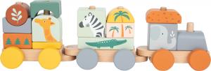 Trenulet din lemn in culori pastelate Safari [1]