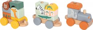 Trenulet din lemn in culori pastelate Safari [2]