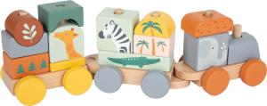 Trenulet din lemn in culori pastelate Safari [3]