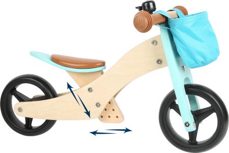 2 in 1 Tricicleta si Bicicleta de echilibru din lemn, Albastru1