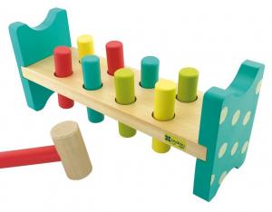Joc bancuta cu ciocanel, din lemn, jucarie Montessori [0]