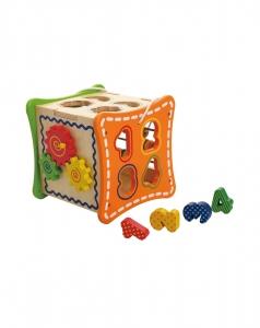 Cubul cu Flori, 5 activitati educative,12 forme, numaratoare si rotite interconectate2