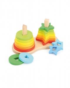 Set piramide curcubeu Montessori [2]