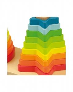 Set piramide curcubeu Montessori [5]