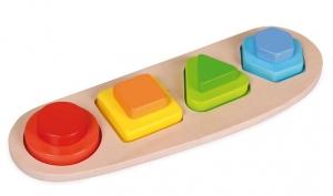 Puzzle 4 forme si culori0