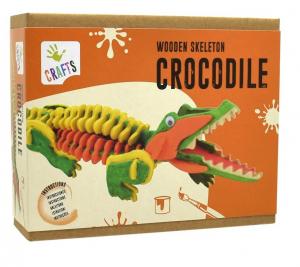 Schelet de crocodil, joc de pictat si asamblat, din lemn0