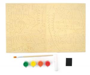 Schelet de dinozaur, joc de pictat si asamblat, din lemn1