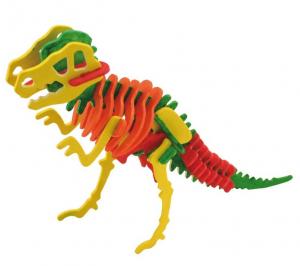 Schelet de dinozaur, joc de pictat si asamblat, din lemn2