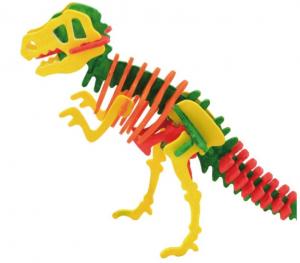 Schelet de dinozaur, joc de pictat si asamblat, din lemn3