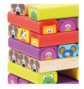 Jenga din lemn cu Animale2