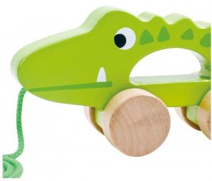 Crocodilul Plimbaret, jucarie de tras din lemn [1]