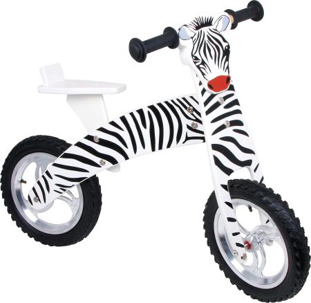 Bicicleta de echilibru din lemn, design Zebra0