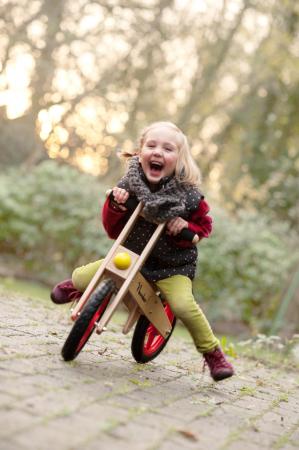 Bicicleta clasica de echilibru din lemn, fara pedale [1]