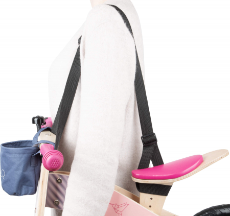 Bicicleta de echilibru din lemn Colibri in accente roz neon [5]
