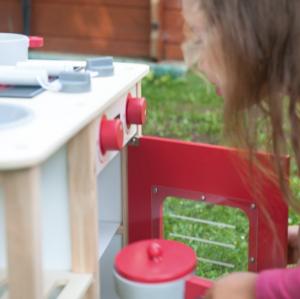 Bucataria rosie din lemn pentru 2 copii, 75.5 cm inaltime11