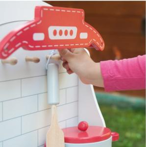 Bucataria rosie din lemn pentru 2 copii, 75.5 cm inaltime8