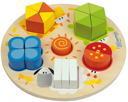 Forme, Fractii si Culori, puzzle educativ [0]