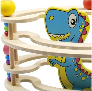 Circuit cu bile din lemn, paznic Dinozaur [1]