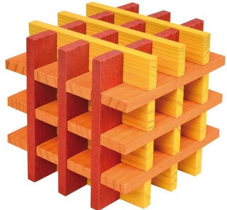 City Blocks-cuburi de lemn pentru construit, culori calde [3]