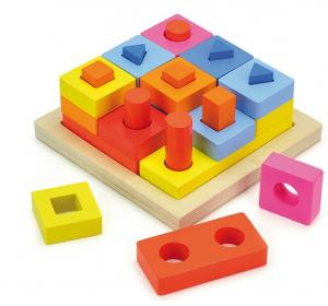 Puzzle educativ 3D Potrivire forme0