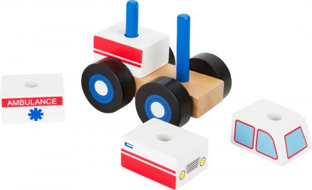 Construieste Ambulanta, joc din lemn [1]