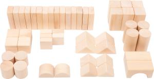 Cuburi de constructie din lemn natur, set de 50 [0]