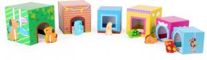 Cuburi de construit cu 6 figurine animale2