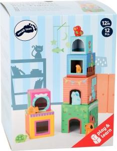 Cuburi de construit cu 6 figurine animale5