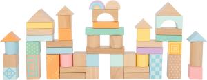 Cuburi de construit din lemn in culori pastelate2