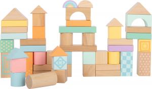 Cuburi de construit din lemn in culori pastelate0