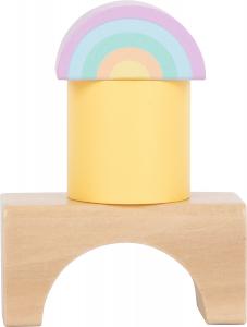 Cuburi de construit din lemn in culori pastelate5
