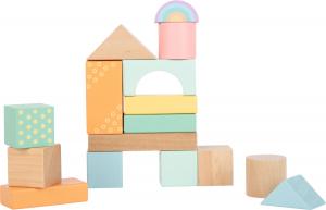 Cuburi de construit din lemn in culori pastelate1