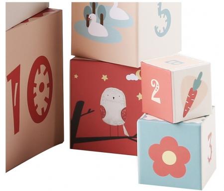 Turn de cuburi cu cifre, litere, animale si cantitati [4]