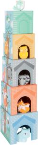 In Padure - Cuburi mari cu 5 figurine in culori pastel4