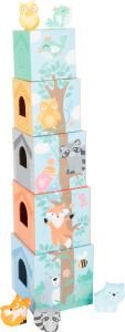In Padure - Cuburi mari cu 5 figurine in culori pastel9