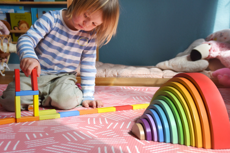 Forme de construit Curcubeu Montessori de dimensiuni extra-large, din lemn [8]