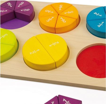 Fractii, puzzle educativ0