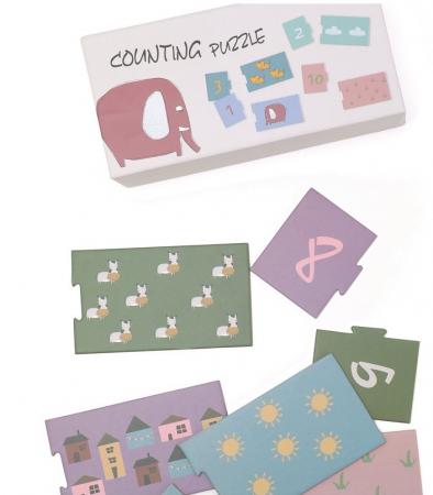 Invat sa numar de la 1 la 10, puzzle educativ0