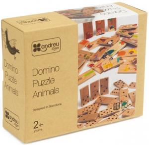 Joc de lemn 2 in 1, puzzle domino cu animale7
