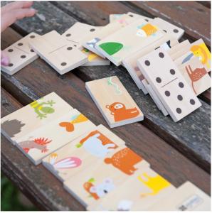 Joc de lemn 2 in 1, puzzle domino cu animale5