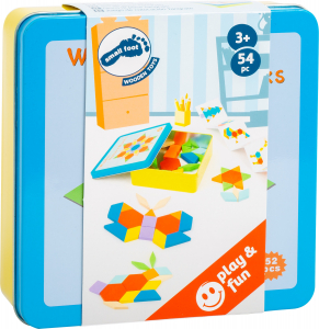Joc Puzzle Tangram Multicolor din lemn2