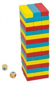 Joc Turnul colorat din lemn cu 48 de piese, Jenga, pentru 2 jucatori0