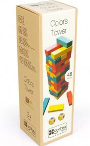 Joc Turnul colorat din lemn cu 48 de piese, Jenga, pentru 2 jucatori1