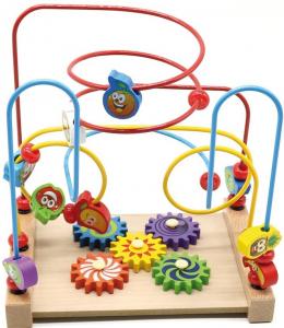 Jucarie cu 3 circuite cu activitati educative, Margelele  fructate.4