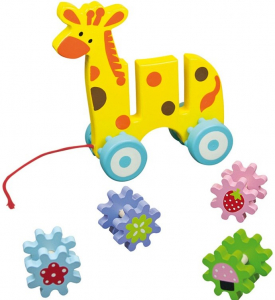Jucarie de tras Girafa cu 8 roti dintate [1]