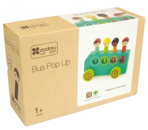 Jucarie din lemn educativa Autobuzul distractiei1