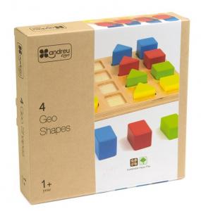 Jucarie educativa 4 forme, 4 culori, 4 marimi2