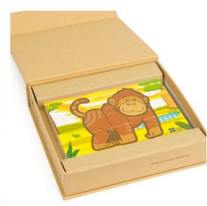 Jungla - 4 puzzle-uri tip diorama, lemn [3]