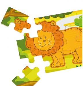Jungla - 4 puzzle-uri tip diorama, lemn [8]